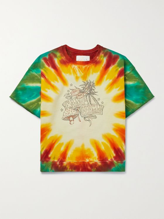 CAMP HIGH Wonders of Nature Tie-Dyed Loopback Cotton-Jersey Sweatshirt