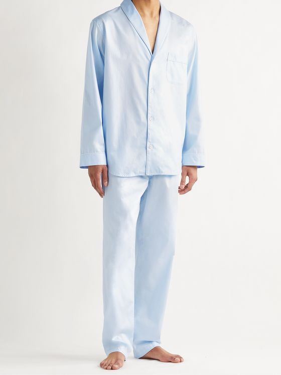 ZIMMERLI Cotton-Jacquard Pyjama Set