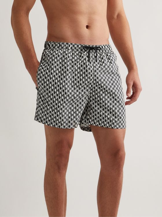 SOLID & STRIPED The Classic Long-Length Printed Swim Shorts