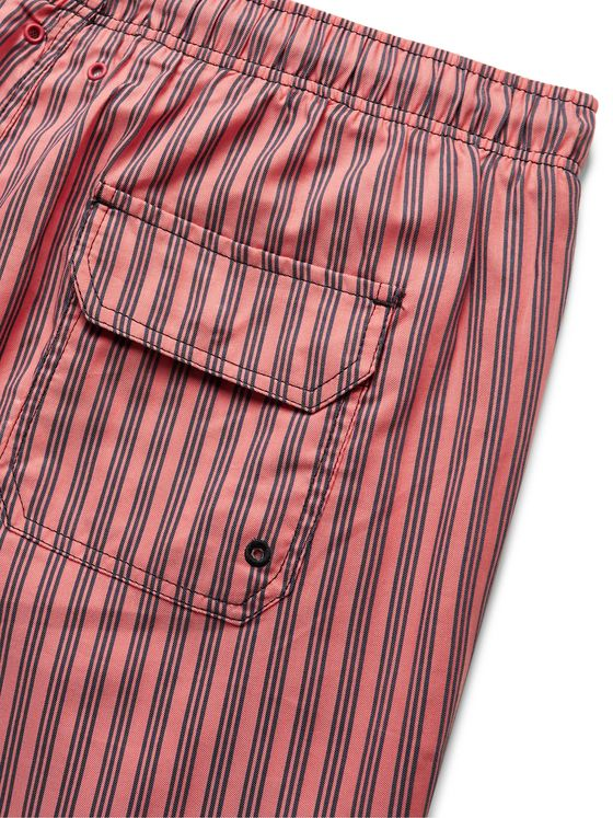 Solid & Striped The Classic Mid-Length Striped Swim Shorts