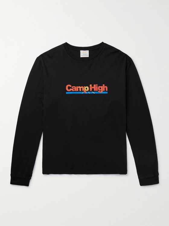 CAMP HIGH Vitamin C-H Logo-Print Cotton-Jersey T-Shirt