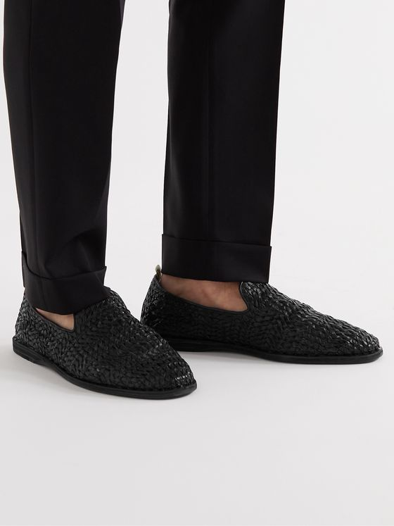 OFFICINE CREATIVE Moreira Woven Leather Espadrilles