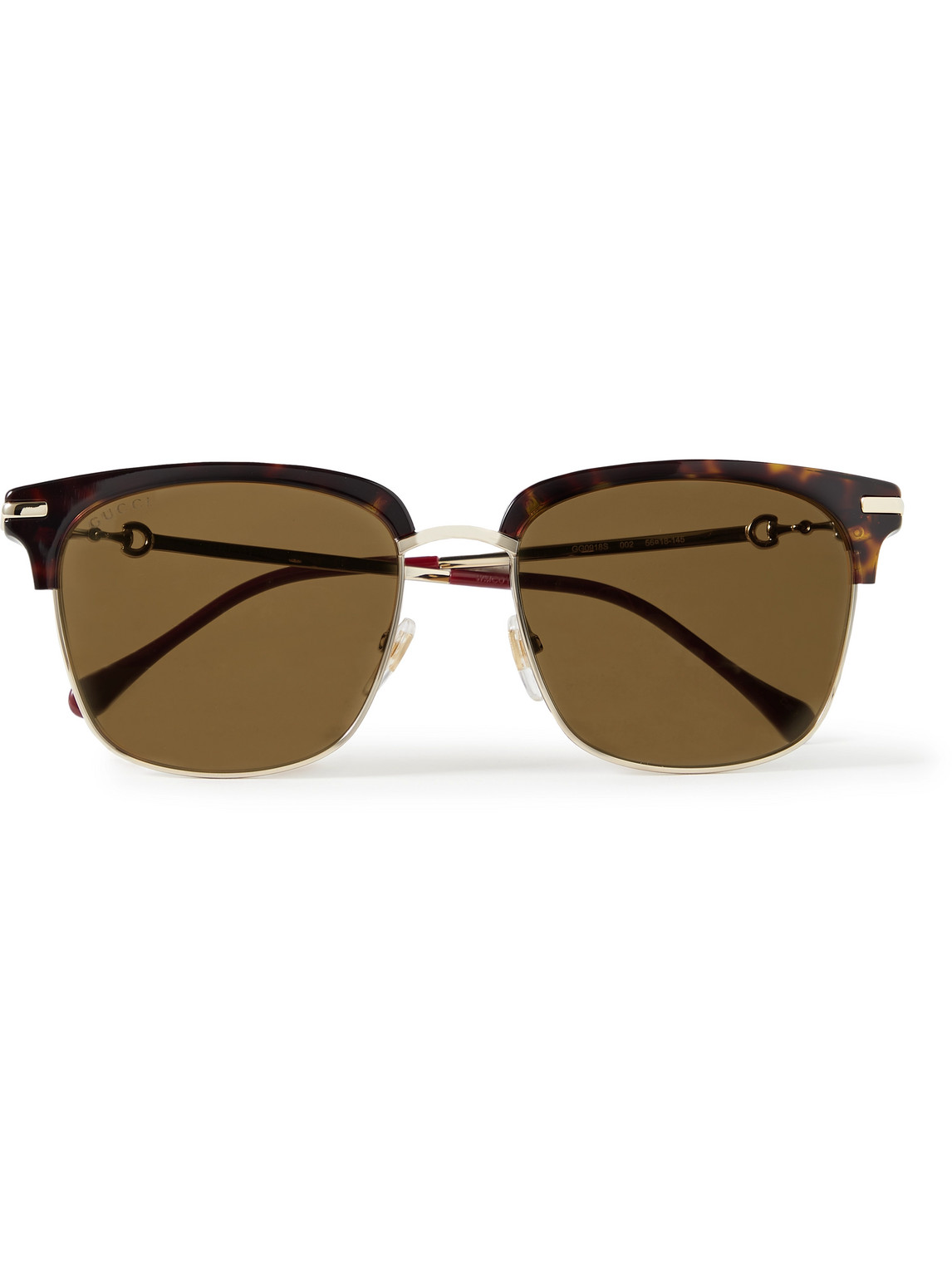 Gucci - D-Frame Tortoiseshell Acetate And Gold-Tone Sunglasses - Men - Tortoiseshell