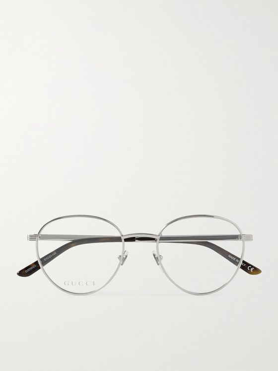 GUCCI Round-Frame Silver-Tone Optical Glasses
