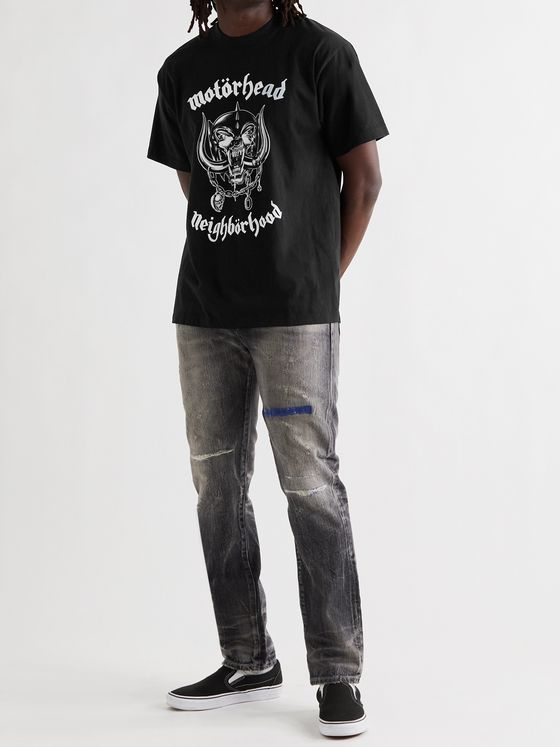 NEIGHBORHOOD + Motörhead Printed Cotton-Jersey T-Shirt