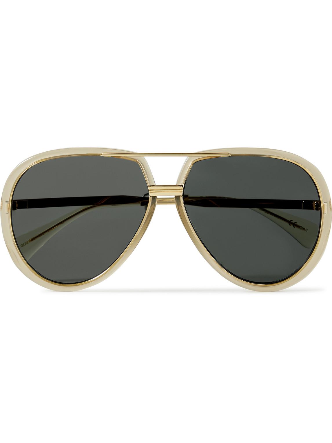 Gucci - Aviator-Style Acetate And Gold-Tone Sunglasses - Men - Green