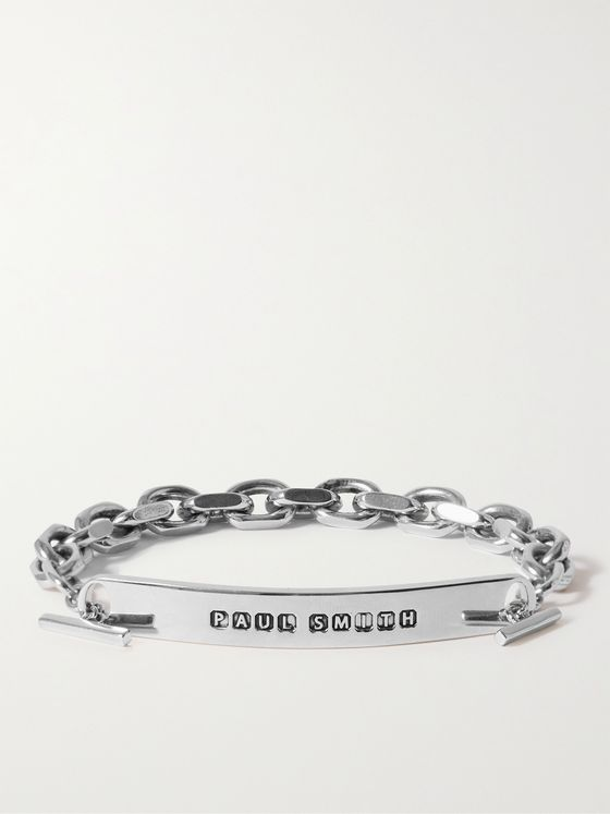 PAUL SMITH Logo-Engraved Silver-Tone Bracelet
