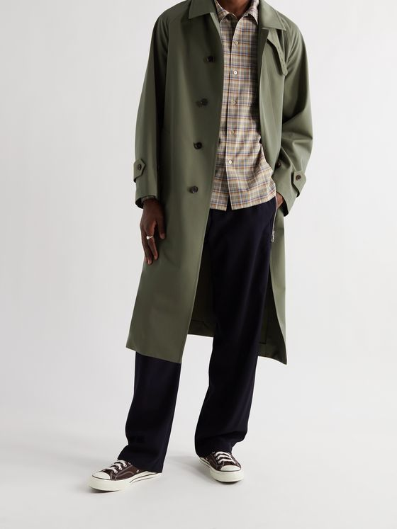 AURALEE Wool-Canvas Trench Coat