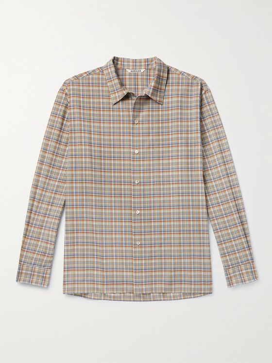 AURALEE Checked Wool Shirt