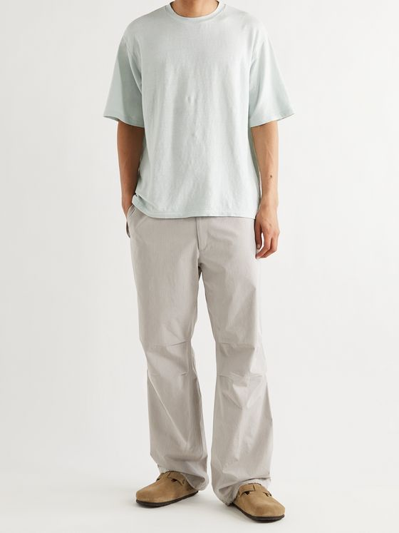 AURALEE Finx Washed Cotton-Ripstop Drawstring Trousers