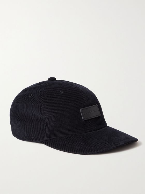 FLAGSTUFF Leather-Appliquéd Cotton-Corduroy Baseball Cap