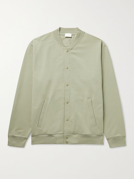 HANDVAERK Flex Stretch-Pima Cotton Bomber Jacket