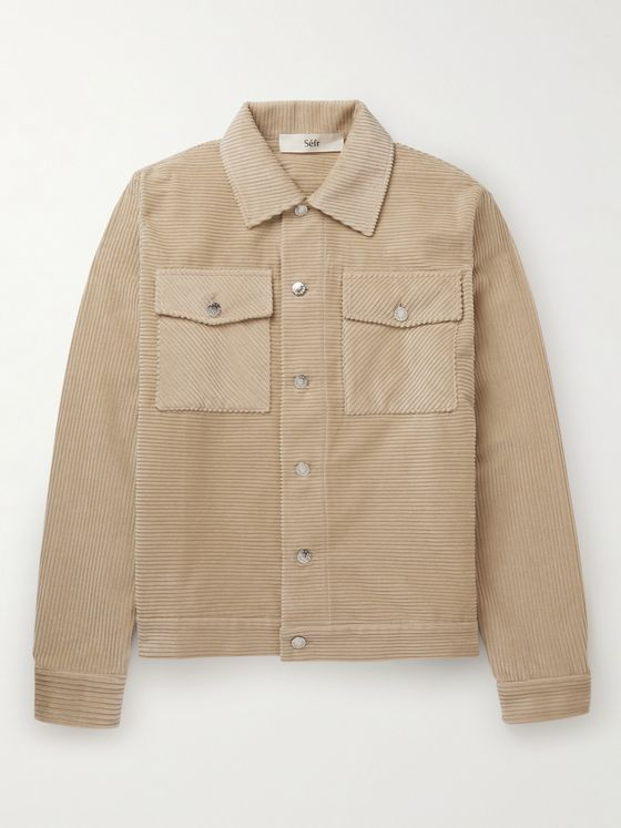 SÉFR Eric Cotton-Corduroy Shirt Jacket