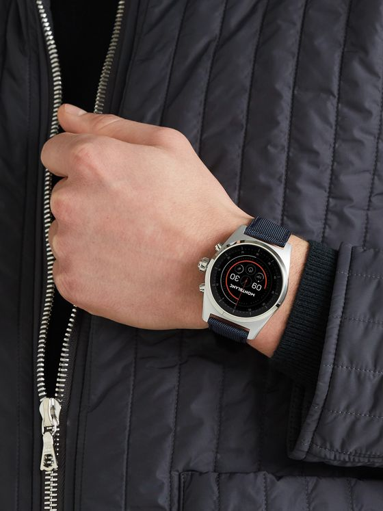 MONTBLANC Summit Lite 43mm Aluminium and Nylon Smart Watch, Ref. No. 128411