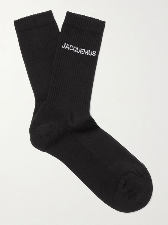 JACQUEMUS Logo-Jacquard Organic Cotton-Blend Socks