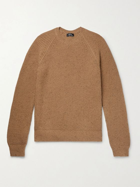 A.P.C. Ludo Mélange Ribbed-Knit Sweater