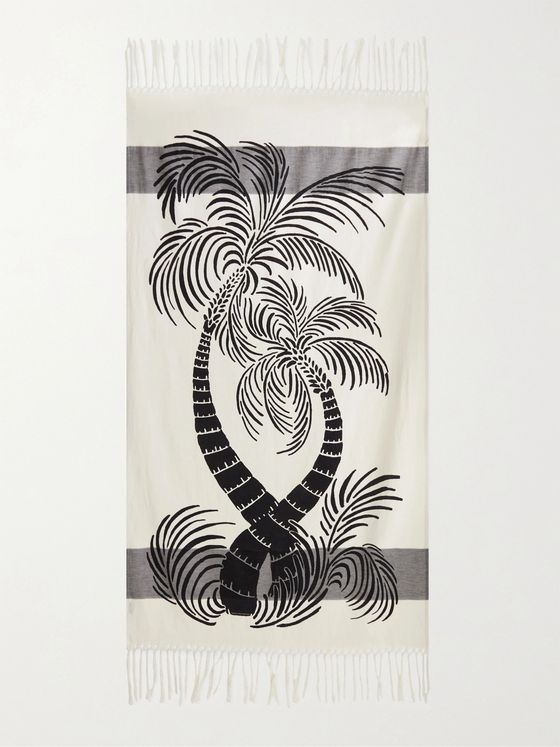 DRIES VAN NOTEN Fringed Printed Towel