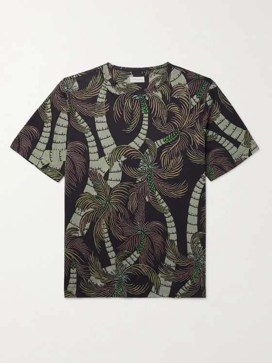 DRIES VAN NOTEN Slim-Fit Printed Cotton-Jersey T-Shirt