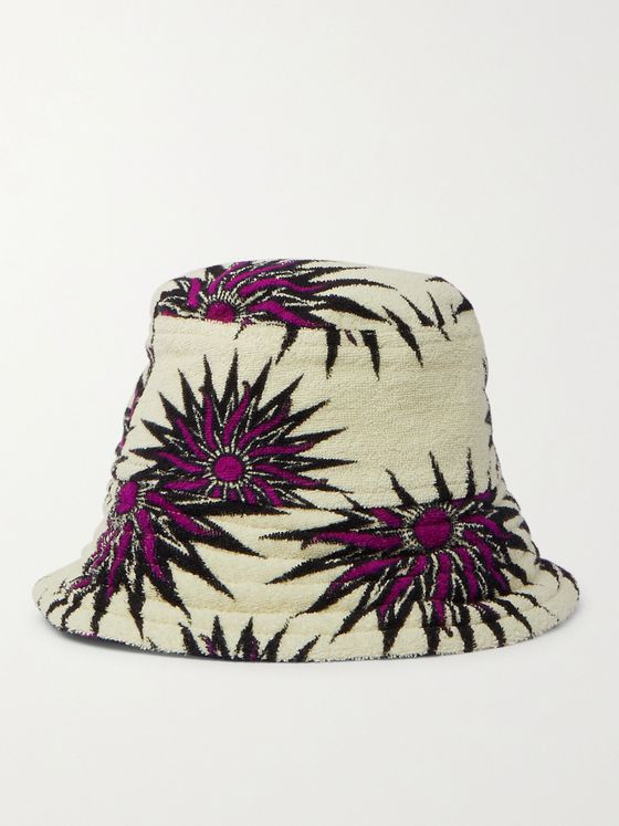 DRIES VAN NOTEN Printed Cotton-Terry Bucket Hat