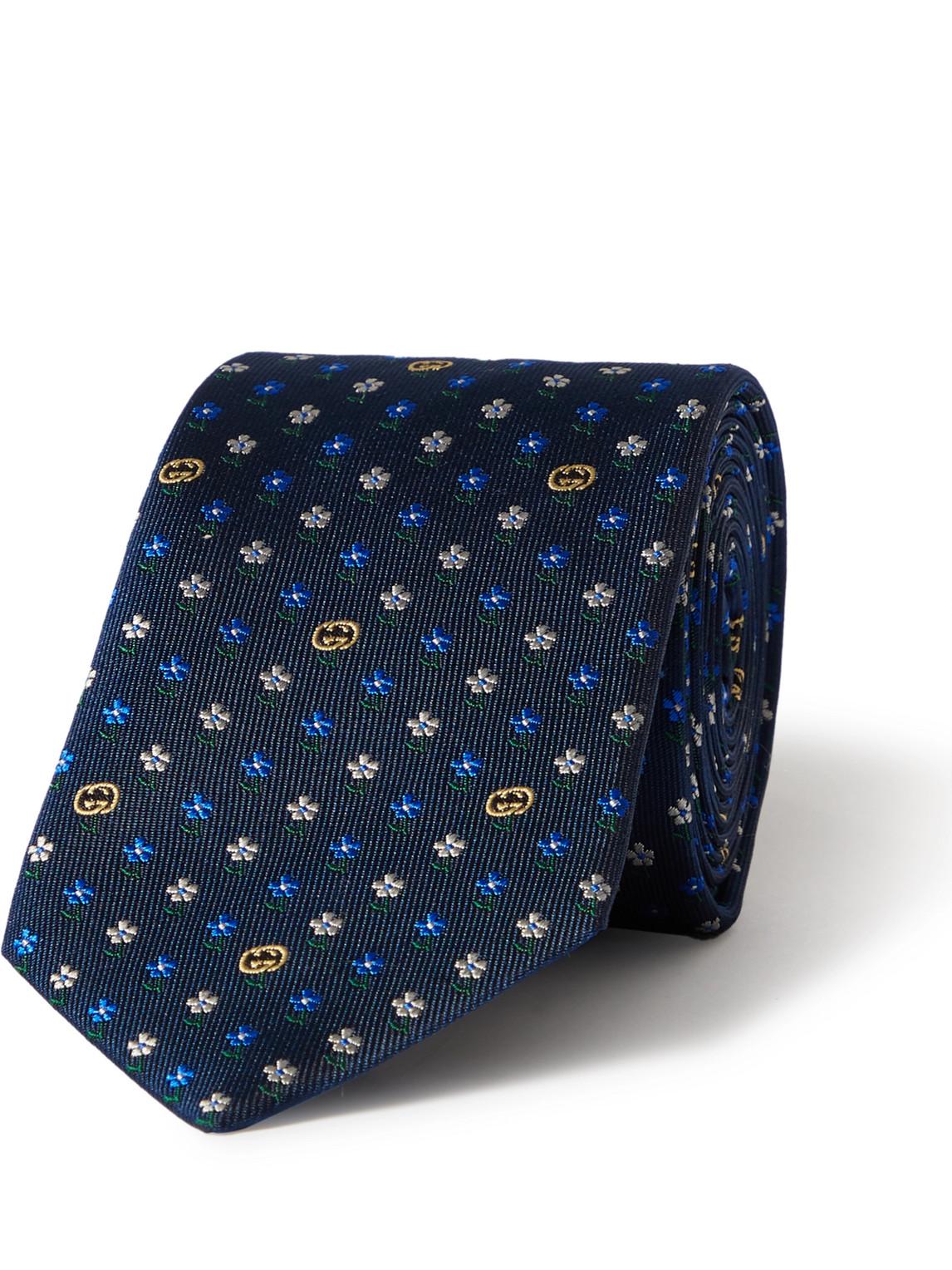 Gucci 7cm Silk-jacquard Tie In Multi