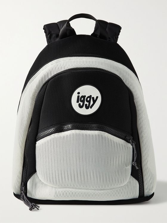 IGGY Logo-Appliquéd Two-Tone Mesh Backpack