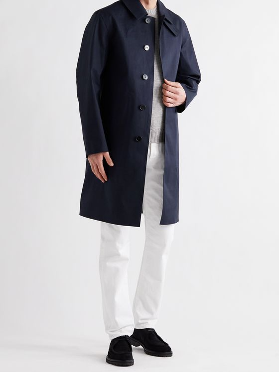 MACKINTOSH Oxford Bonded Cotton Trench Coat