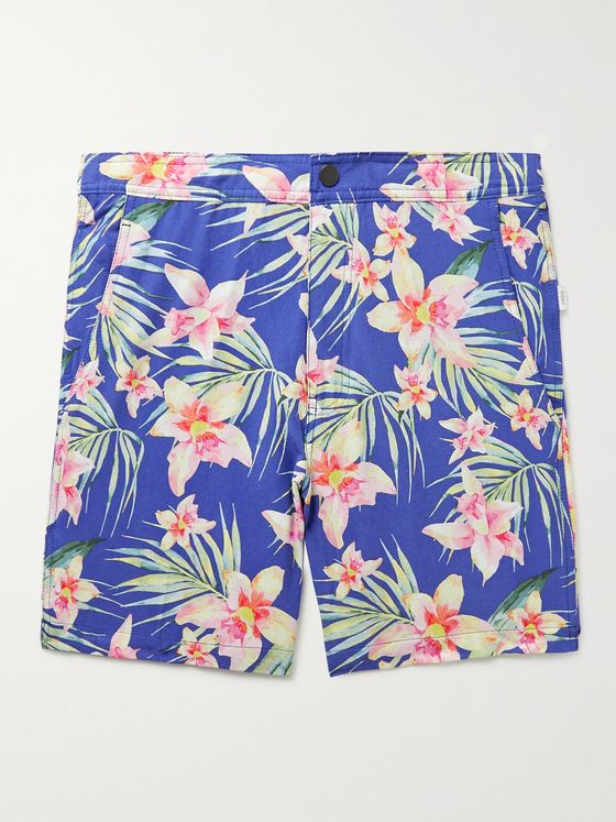 ONIA Calder Mid-Length Floral-Print Swim Shorts