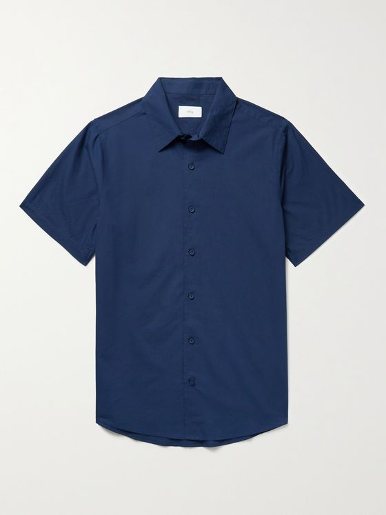 ONIA Albert Garment-Dyed Cotton-Voile Shirt