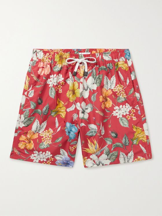 ONIA + Liberty London Charles Mid-Length Floral-Print Swim Shorts