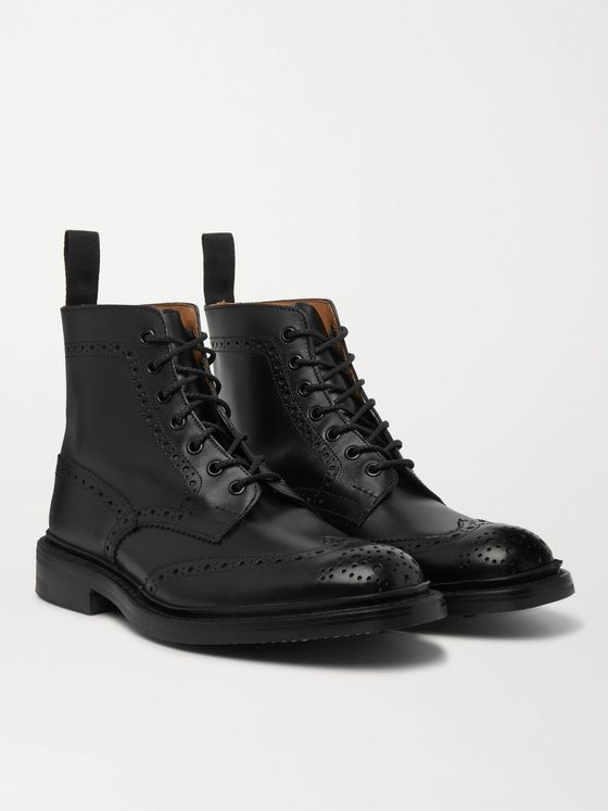 TRICKER'S Stow Full-Grain Leather Brogue Boots