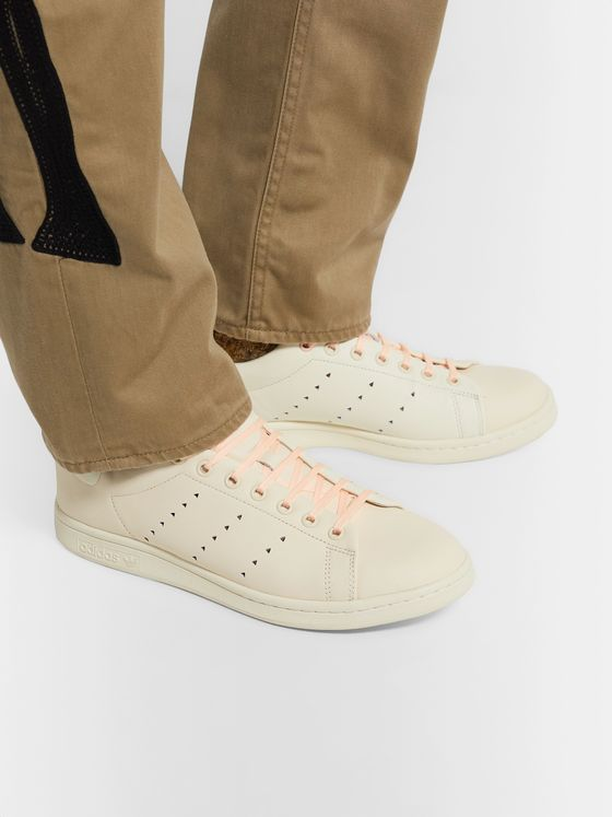 adidas Originals + Pharell Williams Hu Stan Smith Leather Sneakers
