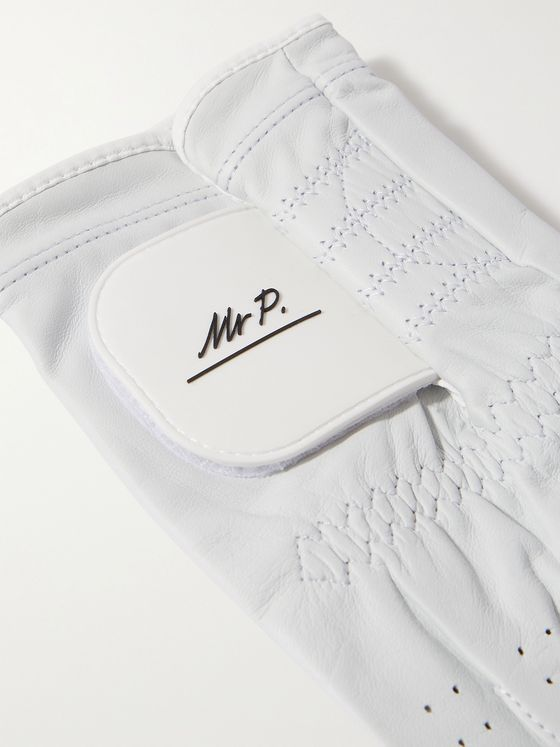 MR P. Logo-Detailed Perforated Leather Golf Glove
