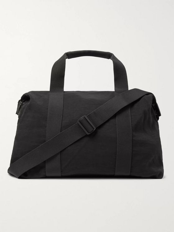 James Perse Highland Leather-Trimmed Nylon Duffle Bag