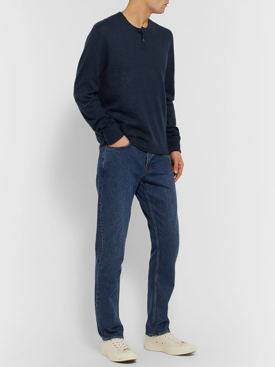 James Perse Cashmere Henley Sweater
