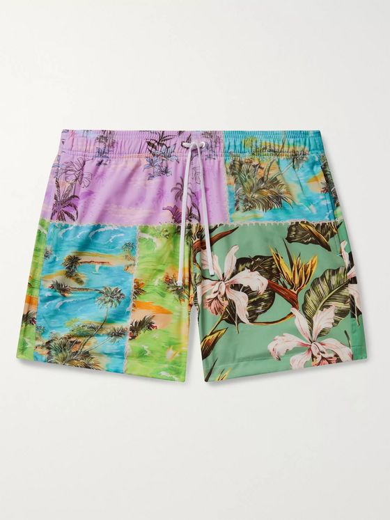 AMIRI Patchwork Printed Swim Shorts