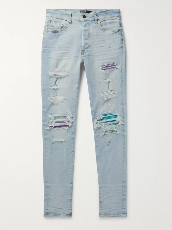 AMIRI Distressed Stretch-Denim Jeans