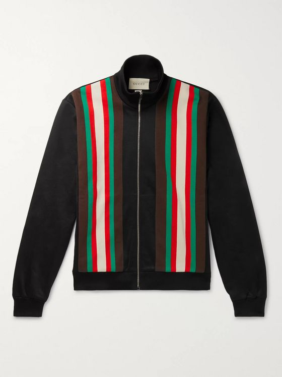 Gucci Striped Tech-Jersey Track Jacket