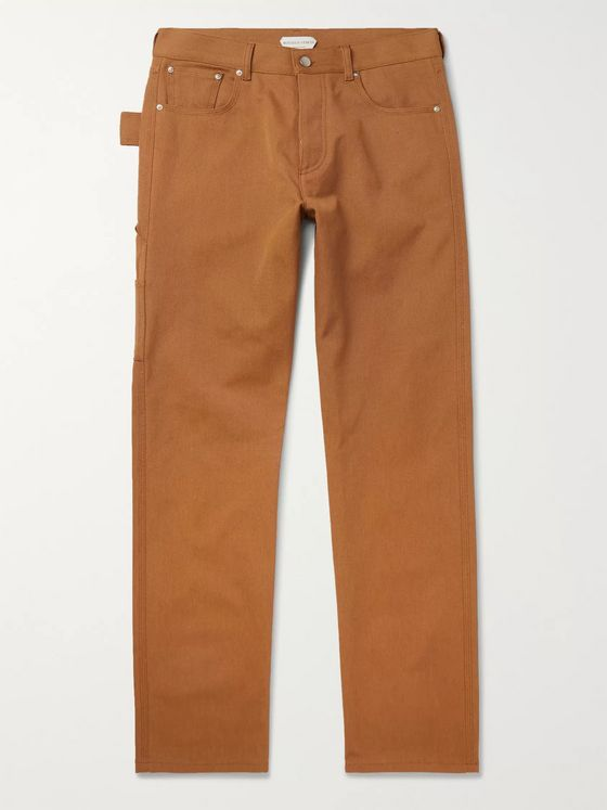 BOTTEGA VENETA Slim-Fit Cotton-Canvas Trousers