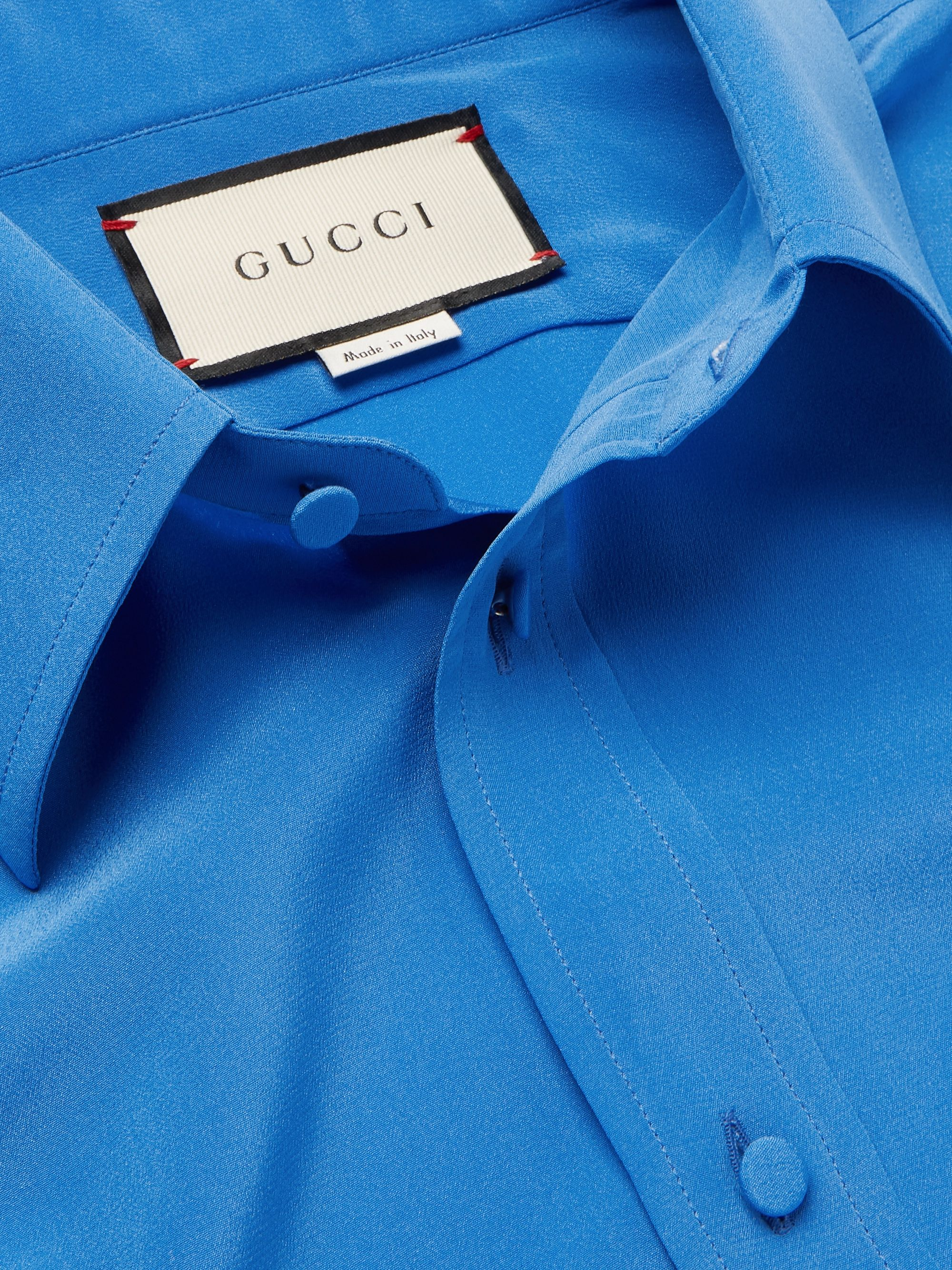 Gucci Silk-Crepe Shirt
