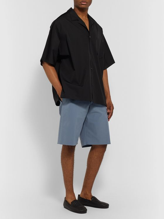 BOTTEGA VENETA Wide-Leg Stretch-Shell Shorts