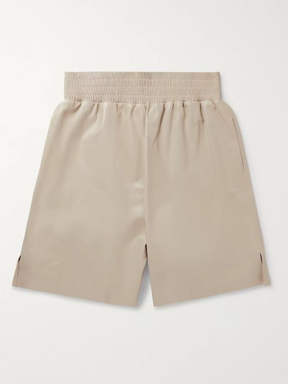 BOTTEGA VENETA Wide-Leg Leather Bermuda Shorts