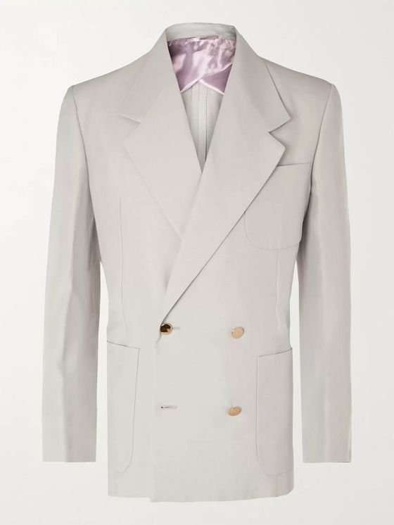 Gucci Slim-Fit Double-Breasted Woven Blazer