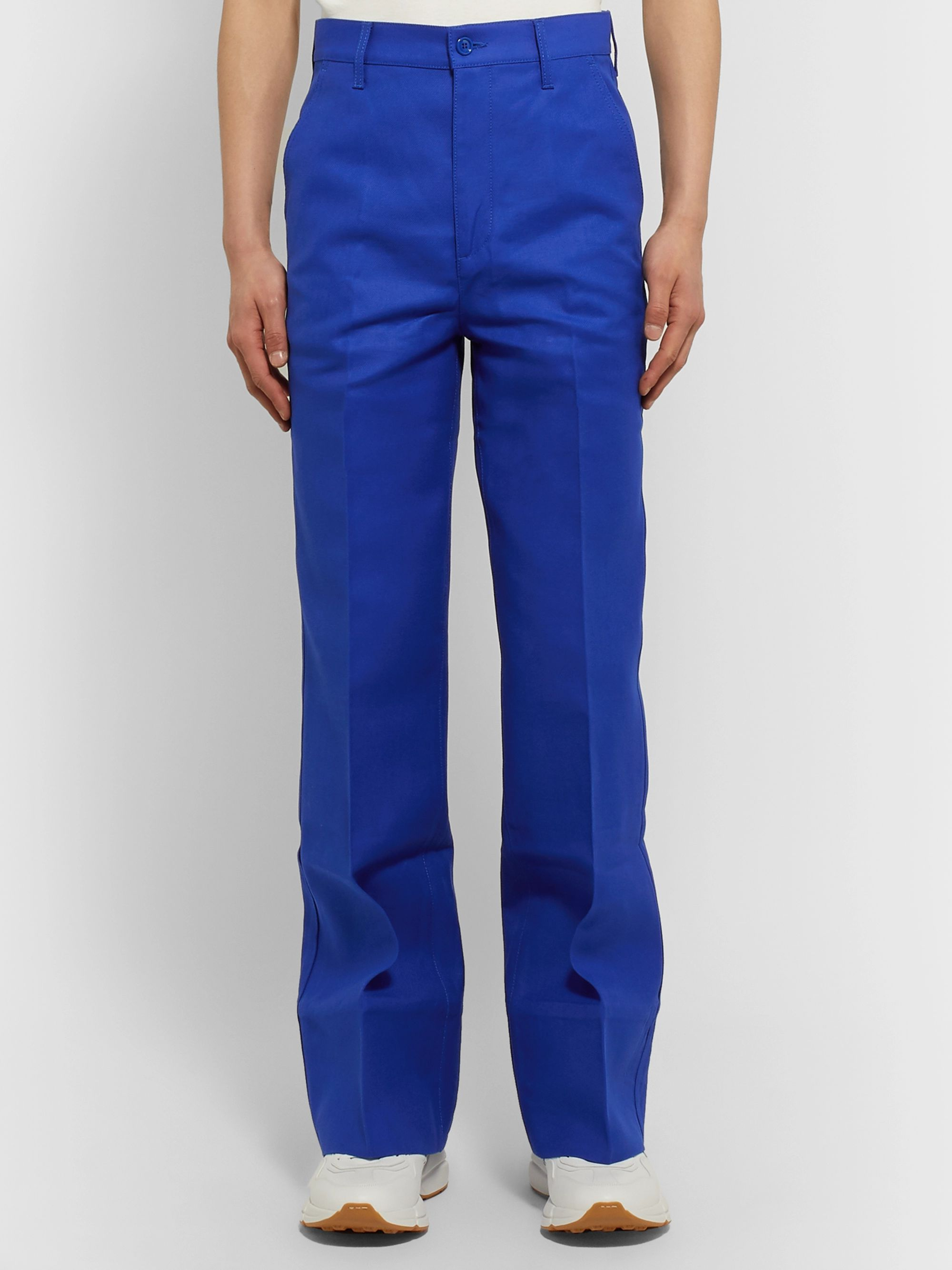 Gucci Slim-Fit Flared Cotton Trousers