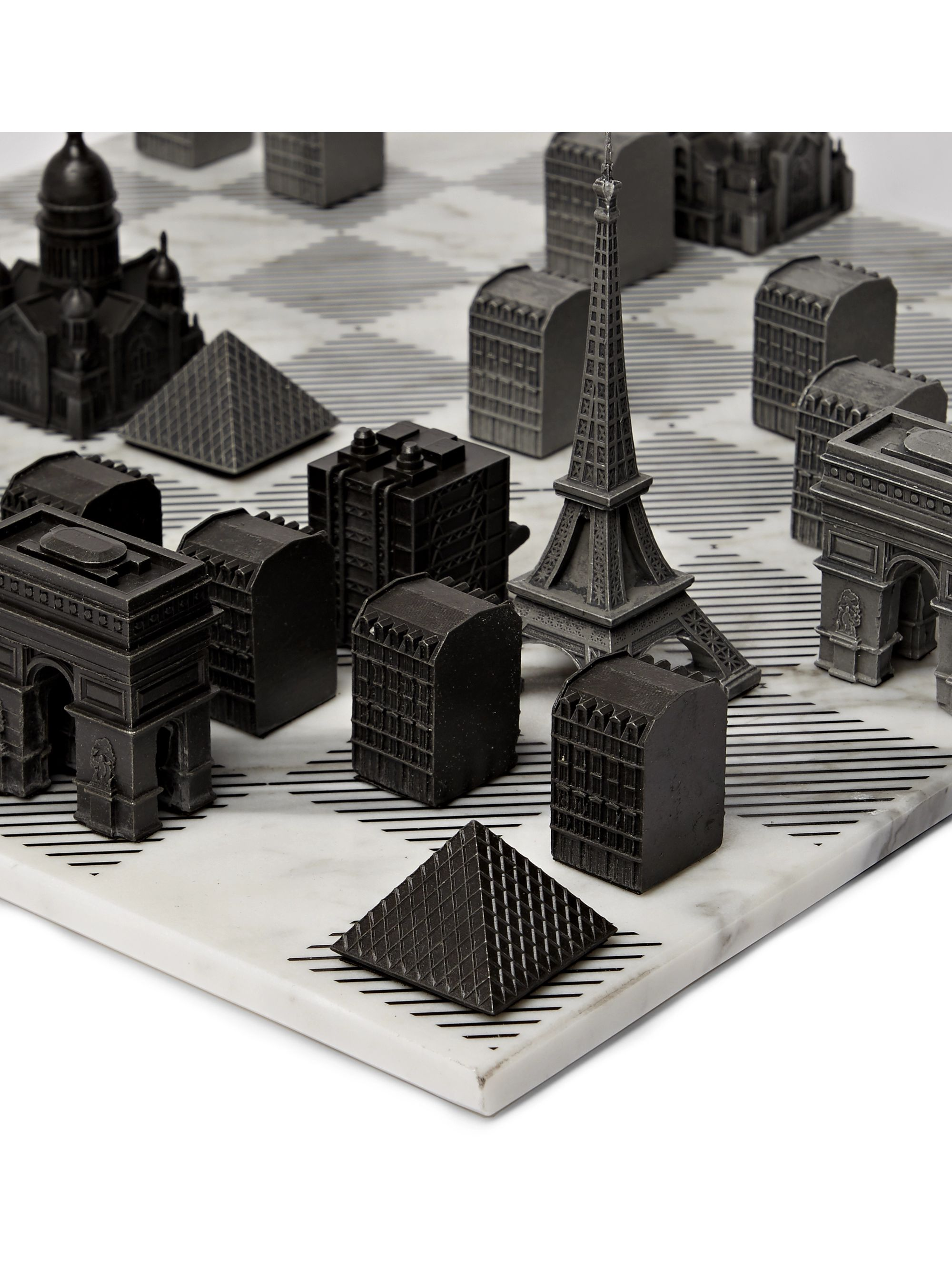 Skyline Chess Paris Marble and Metal Chess Set
