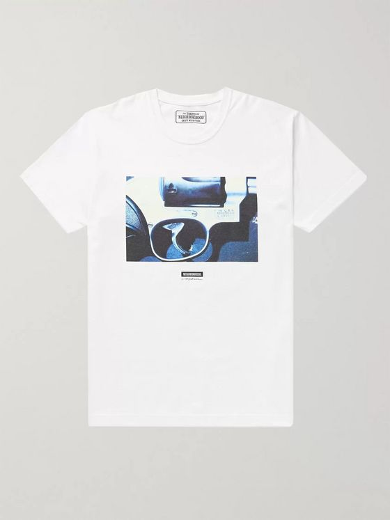 Neighborhood Printed Slub Cotton-Jersey T-Shirt