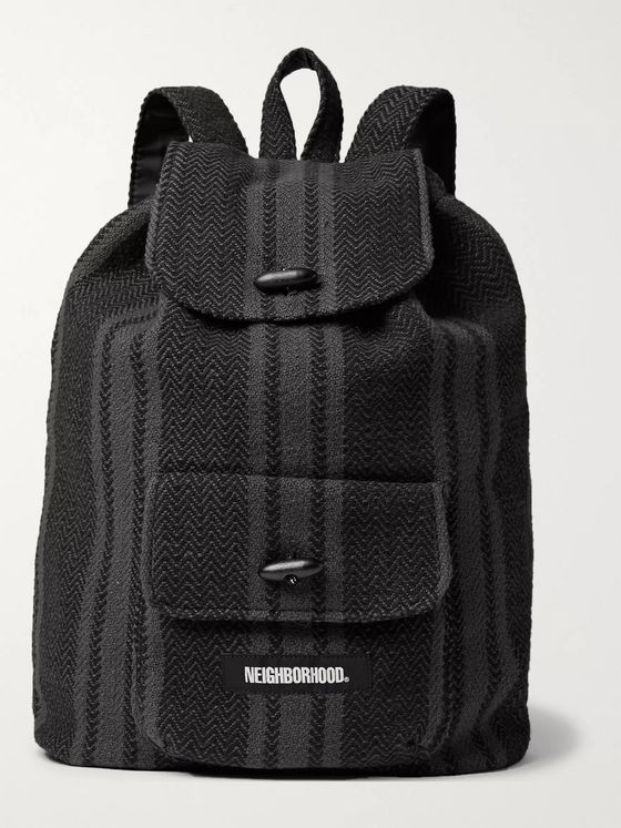 Neighborhood Capri Striped Cotton Backpack