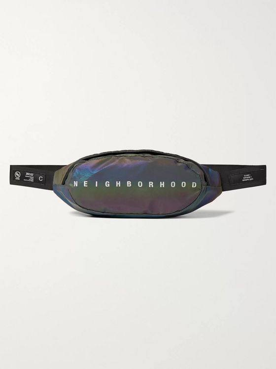 Neighborhood Iridescent Shell Belt Bag