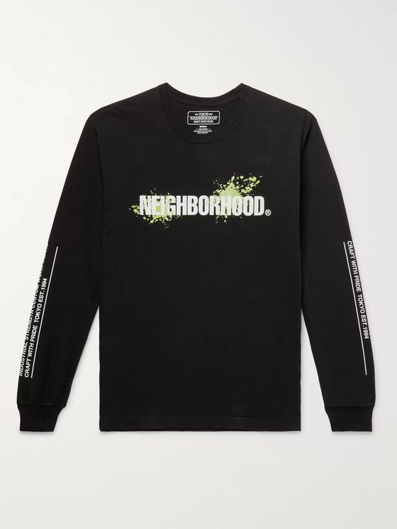 Neighborhood Reign Logo-Print Cotton-Jersey T-Shirt