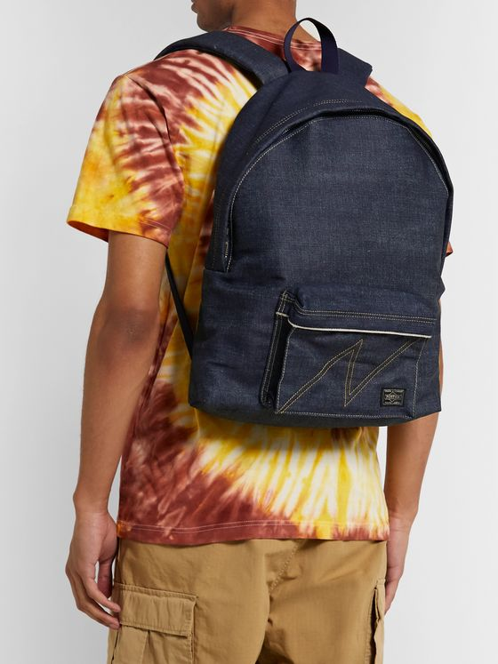 Neighborhood + Porter-Yoshida & Co Denim and Twill Backpack