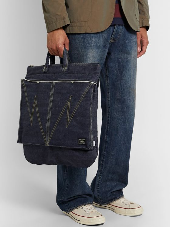 Neighborhood + Porter-Yoshida & Co Denim Tote Bag